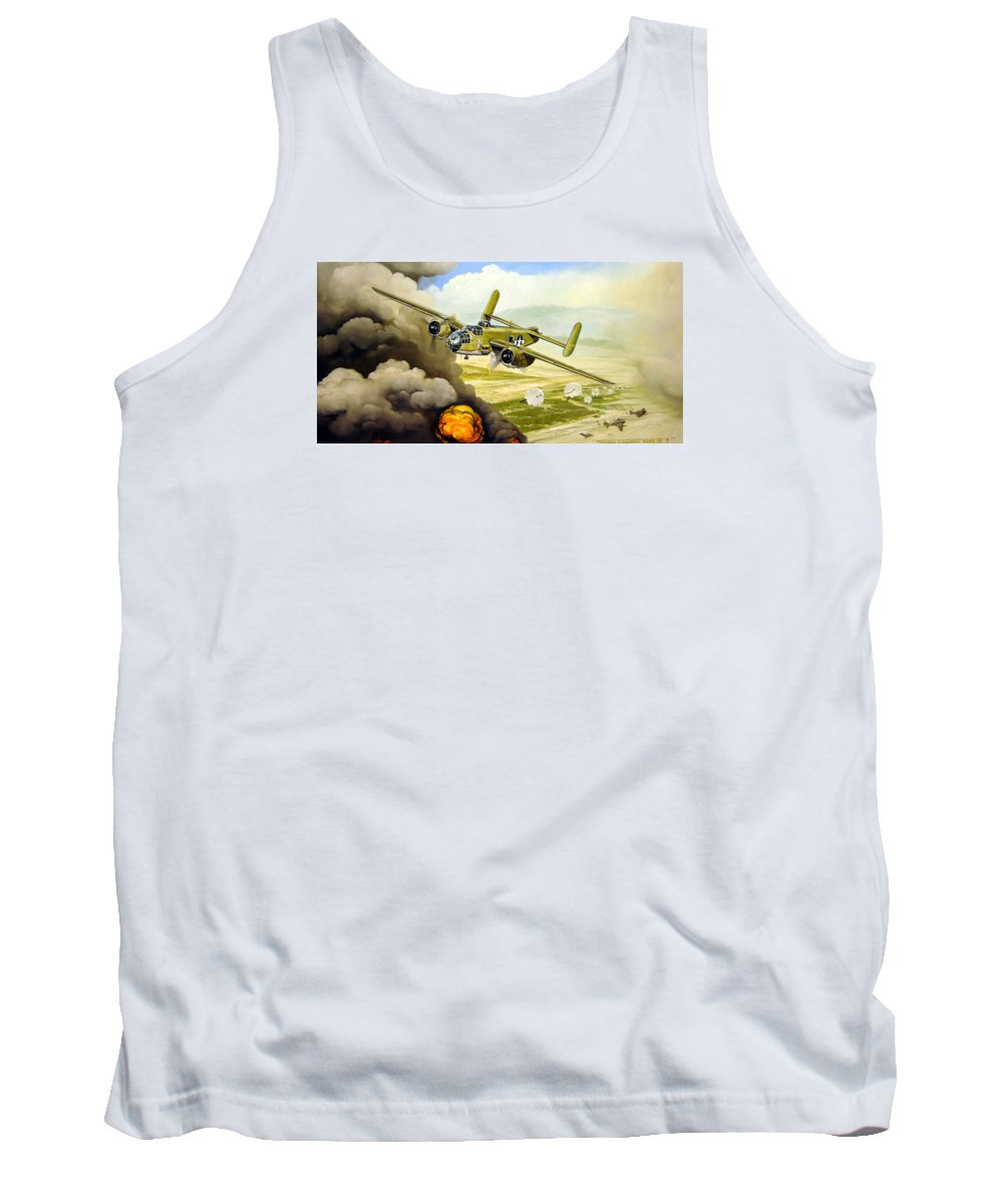 Aviation Tank Top featuring the painting Wild Cargo by Marc Stewart