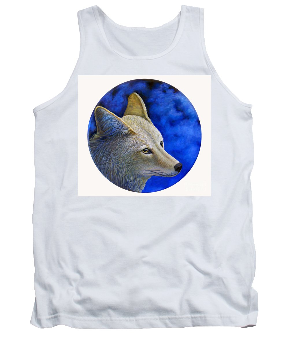 Coyote Tank Top featuring the painting Wiley Coyote by Brian Commerford