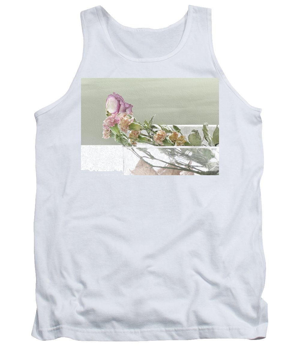 Dried Flower Tank Top featuring the mixed media will you still love me when I am 64 by Aubri Johneen