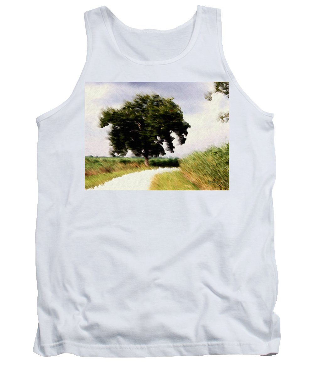 Breeze Tank Top featuring the digital art Wind Motif Old Dam Road by RC DeWinter
