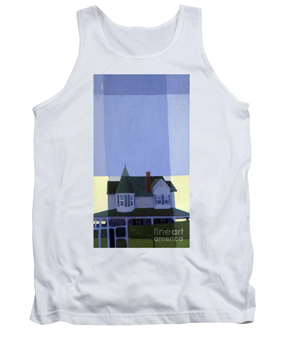 Victorian House Tank Top featuring the painting Windows by Donald Maier