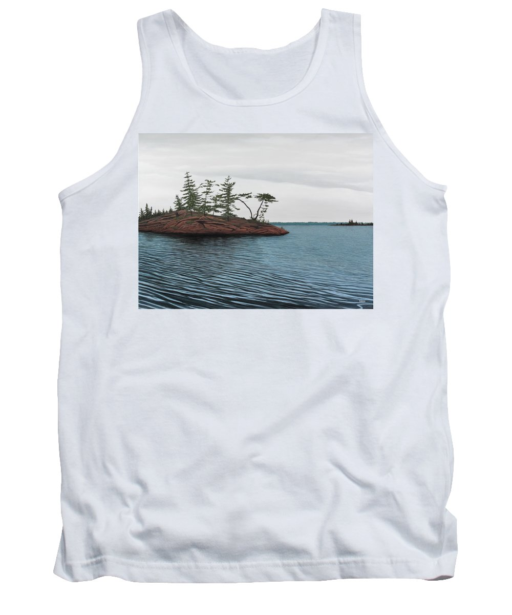 Island Tank Top featuring the painting Windswept Island Georgian Bay by Kenneth M Kirsch