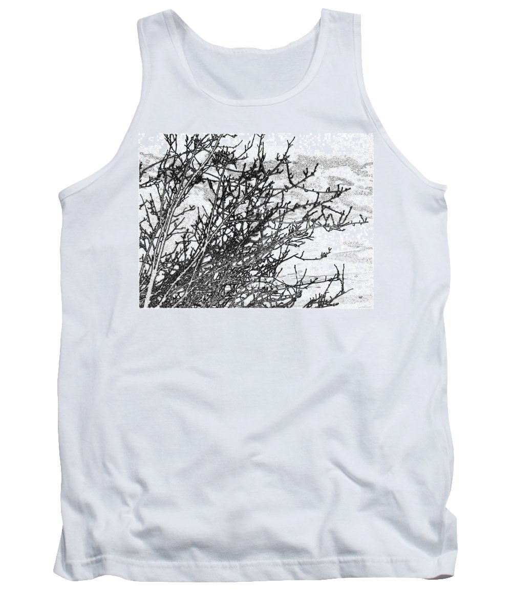 Late Autumn Tank Top featuring the digital art Winter Beckons by Will Borden