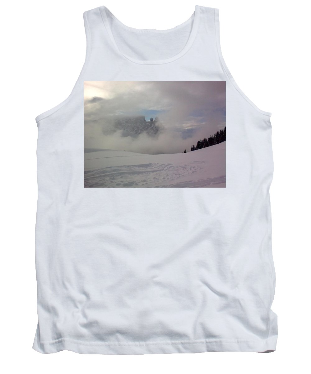 Landscape Tank Top featuring the photograph Winter In The Dolomite Alps by Valerie Ornstein