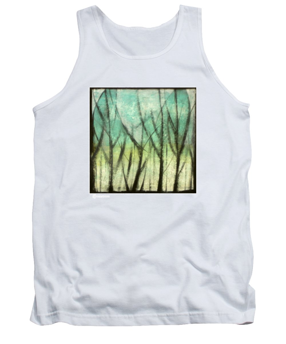 Trees Tank Top featuring the painting Winter Into Spring by Tim Nyberg