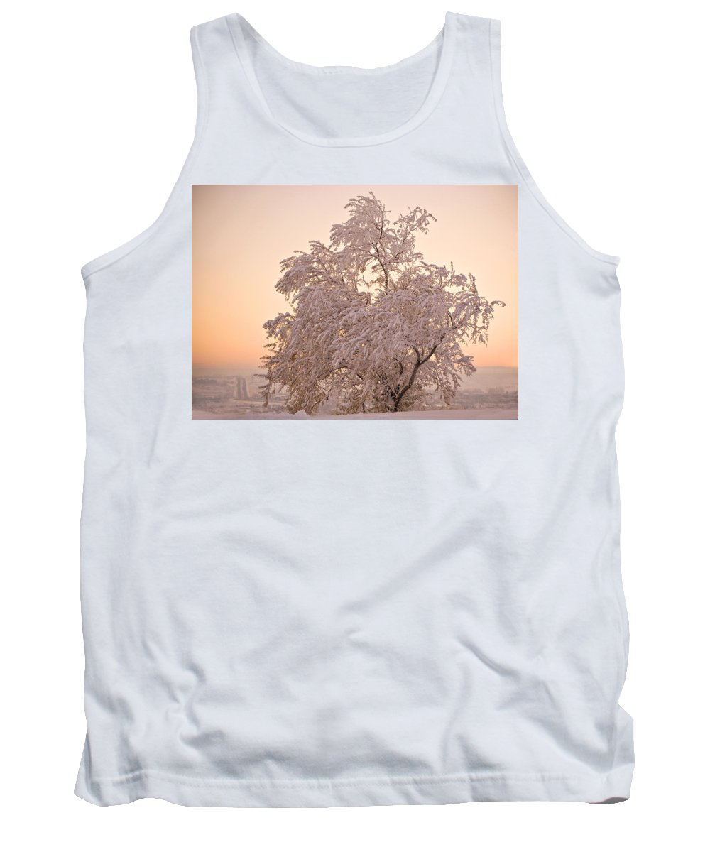 Winter Tank Top featuring the photograph Winter Sunset by Marilyn Hunt