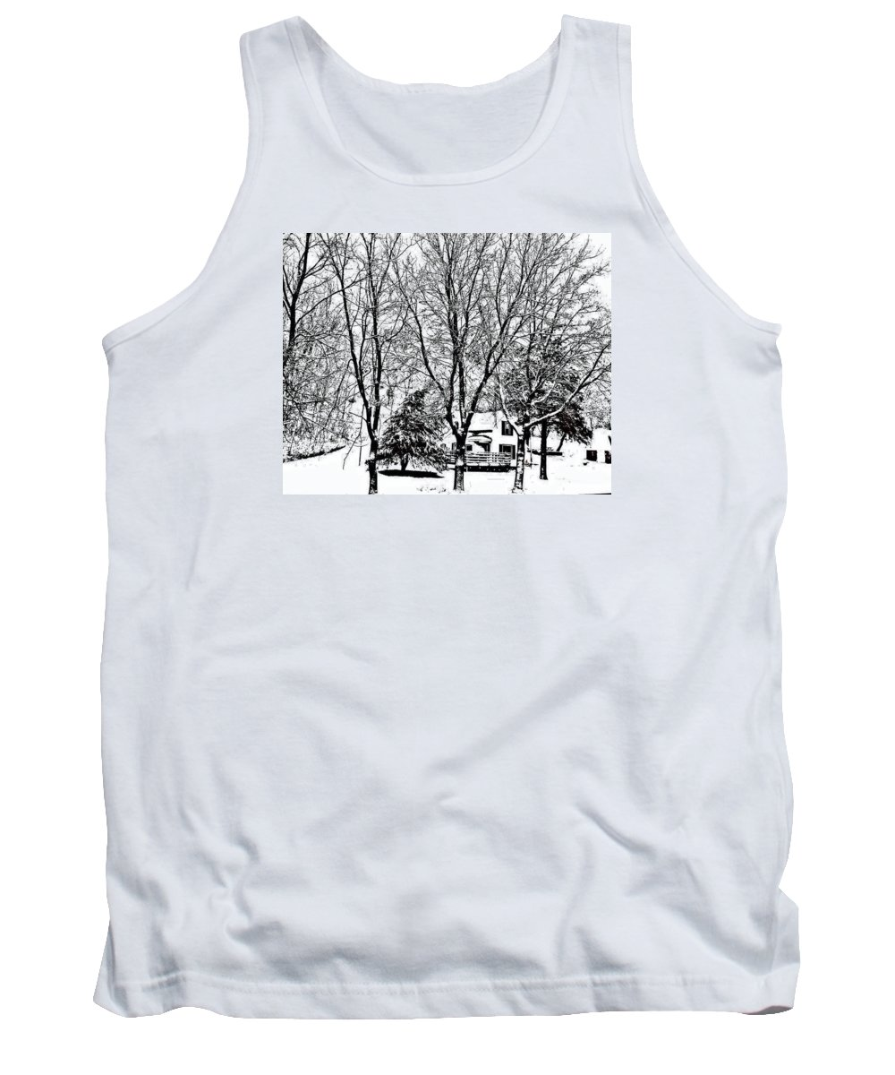Snow Tank Top featuring the photograph Winter Wonderland by Lori Faircloth