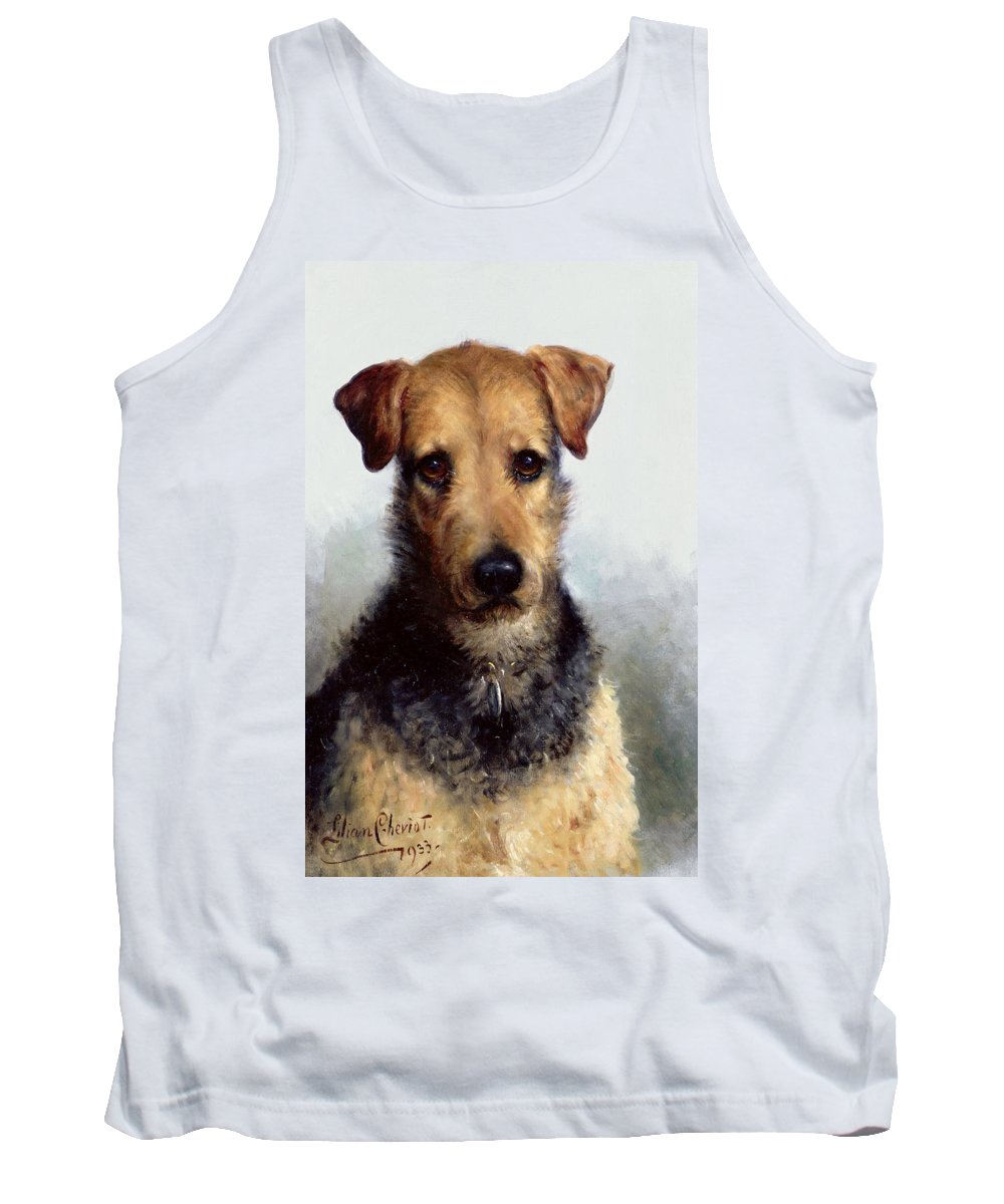 Wire Fox Terrier Tank Top featuring the painting Wire Fox Terrier by Lilian Cheviot