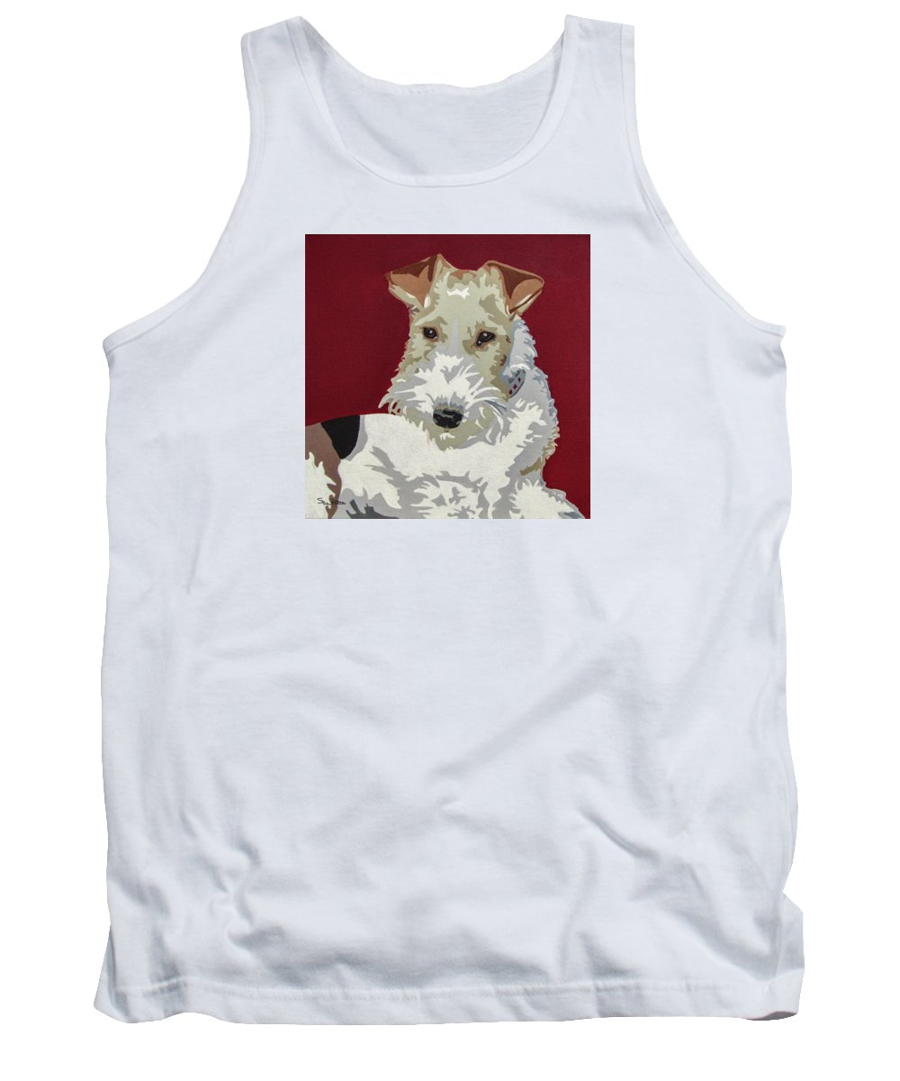 Wire Fox Terrier Tank Top featuring the painting Wirehaired Fox Terrier by Slade Roberts