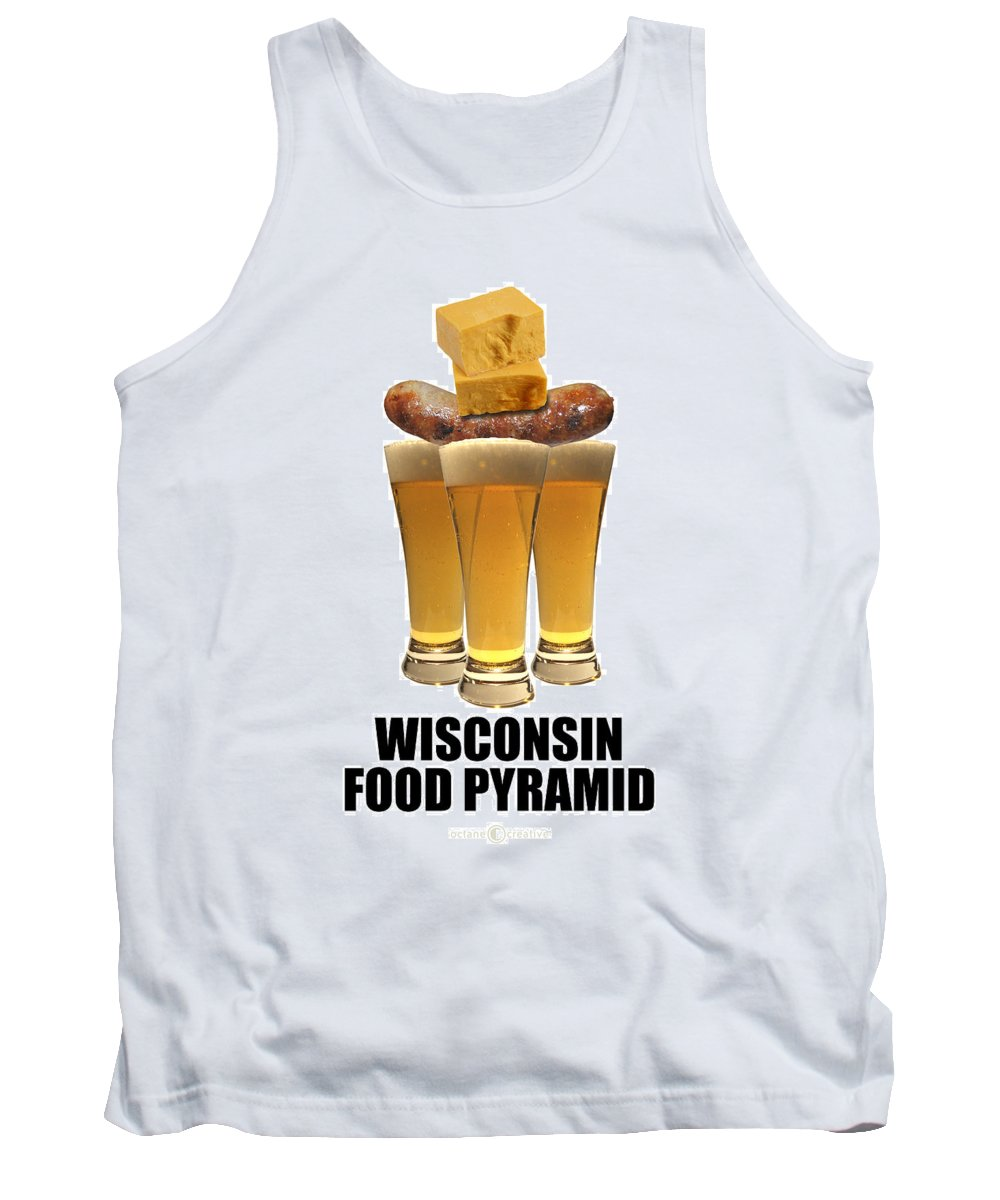 Wisconsin Tank Top featuring the photograph Wisconsin Food Pyramid by Tim Nyberg