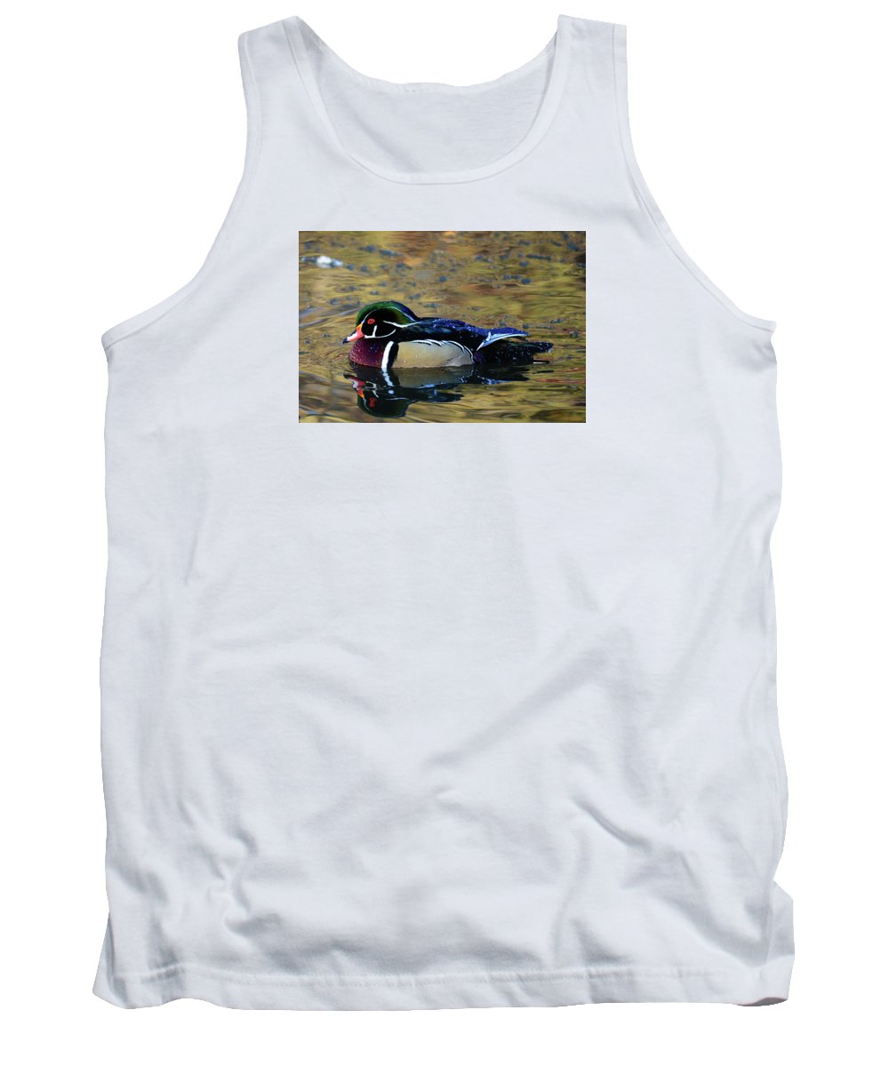 Wood Duck Tank Top featuring the photograph Wood Duck Drake by Whispering Peaks Photography