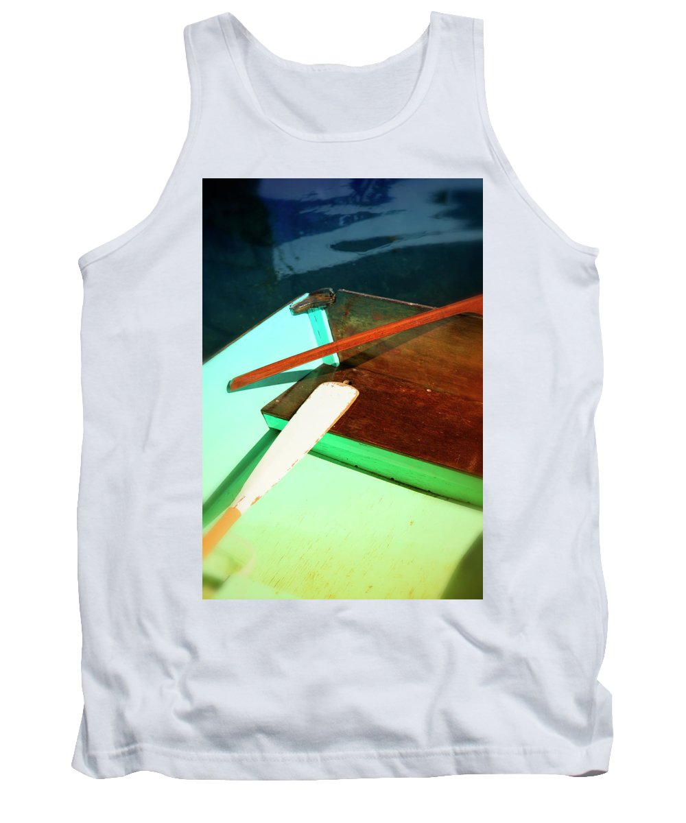 Old Tank Top featuring the photograph Wooden Dingy by Savanah Plank