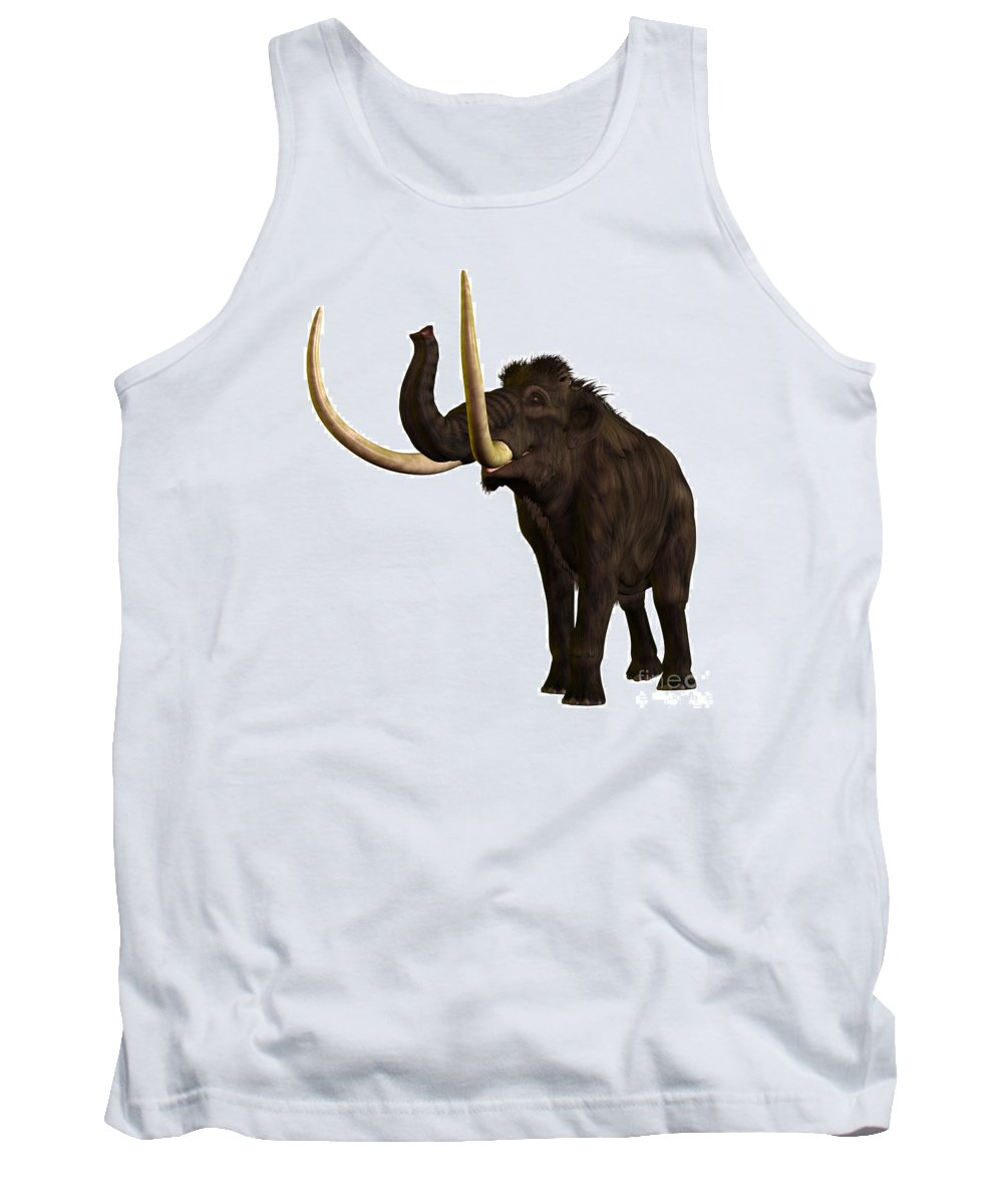 Woolly Mammoth Tank Top featuring the painting Woolly Mammoth Profile by Corey Ford