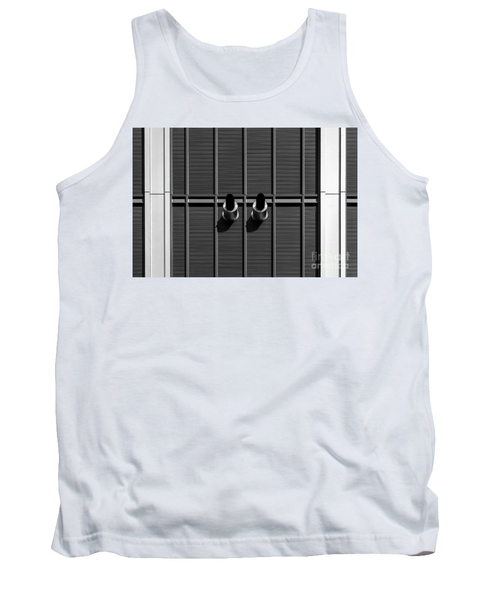 Symmetry Tank Top featuring the photograph World Trade Center by Edi Chen