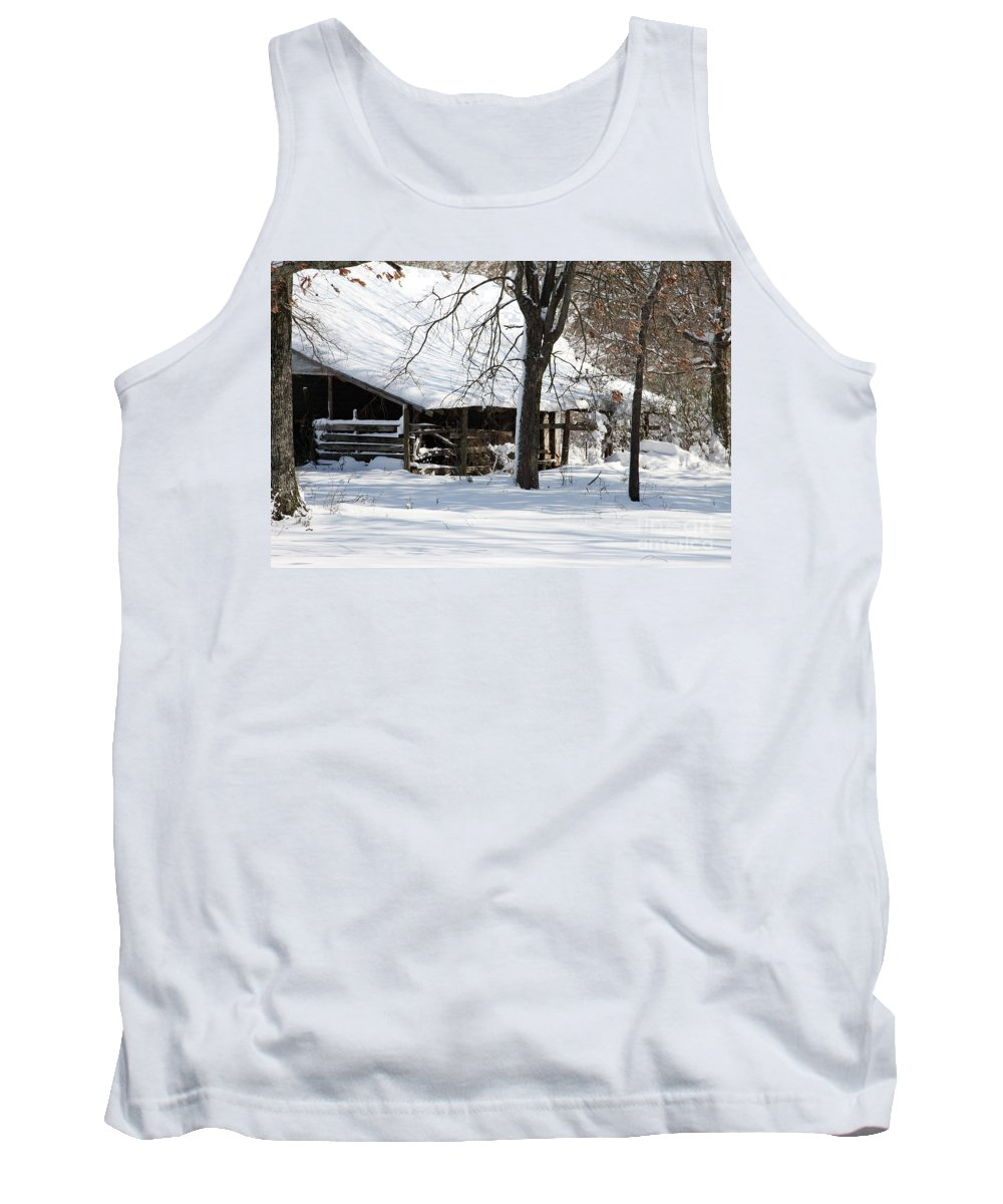 Rural Tank Top featuring the photograph Wrapped In Silence by Amanda Barcon
