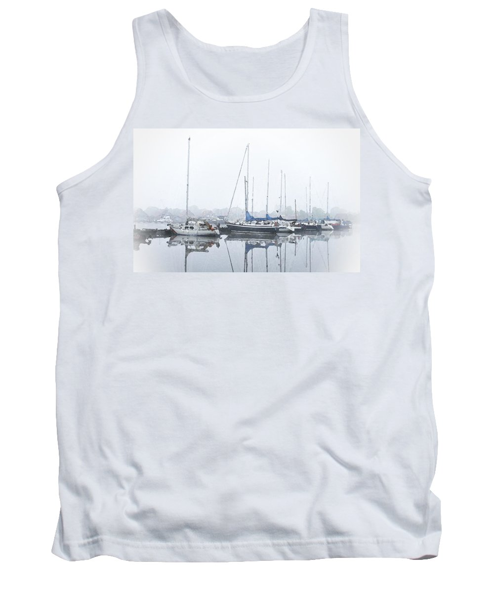 Boat Tank Top featuring the painting Yachting Club by Steve K