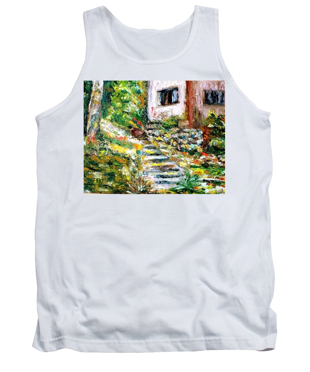 Landscapes Tank Top featuring the painting Little House by Shuly Haimsohn Weiner