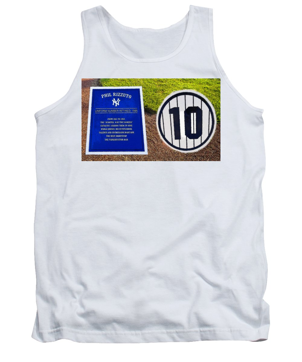 Art Tank Top featuring the painting Yankee Legends Number 10 by David Lee Thompson