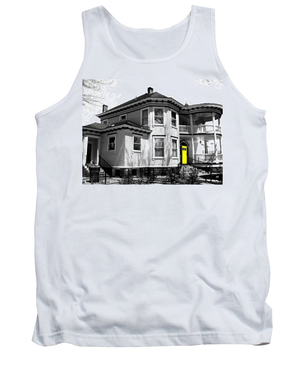 House Tank Top featuring the digital art Yellow Door by Will Borden