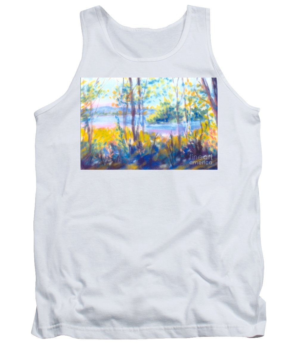Water Tank Top featuring the painting Yellow Flowers by Sandy Sereno