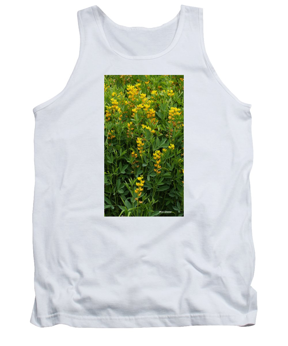 Ron Glaser Tank Top featuring the photograph Yellow Pea 1 by Ron Glaser
