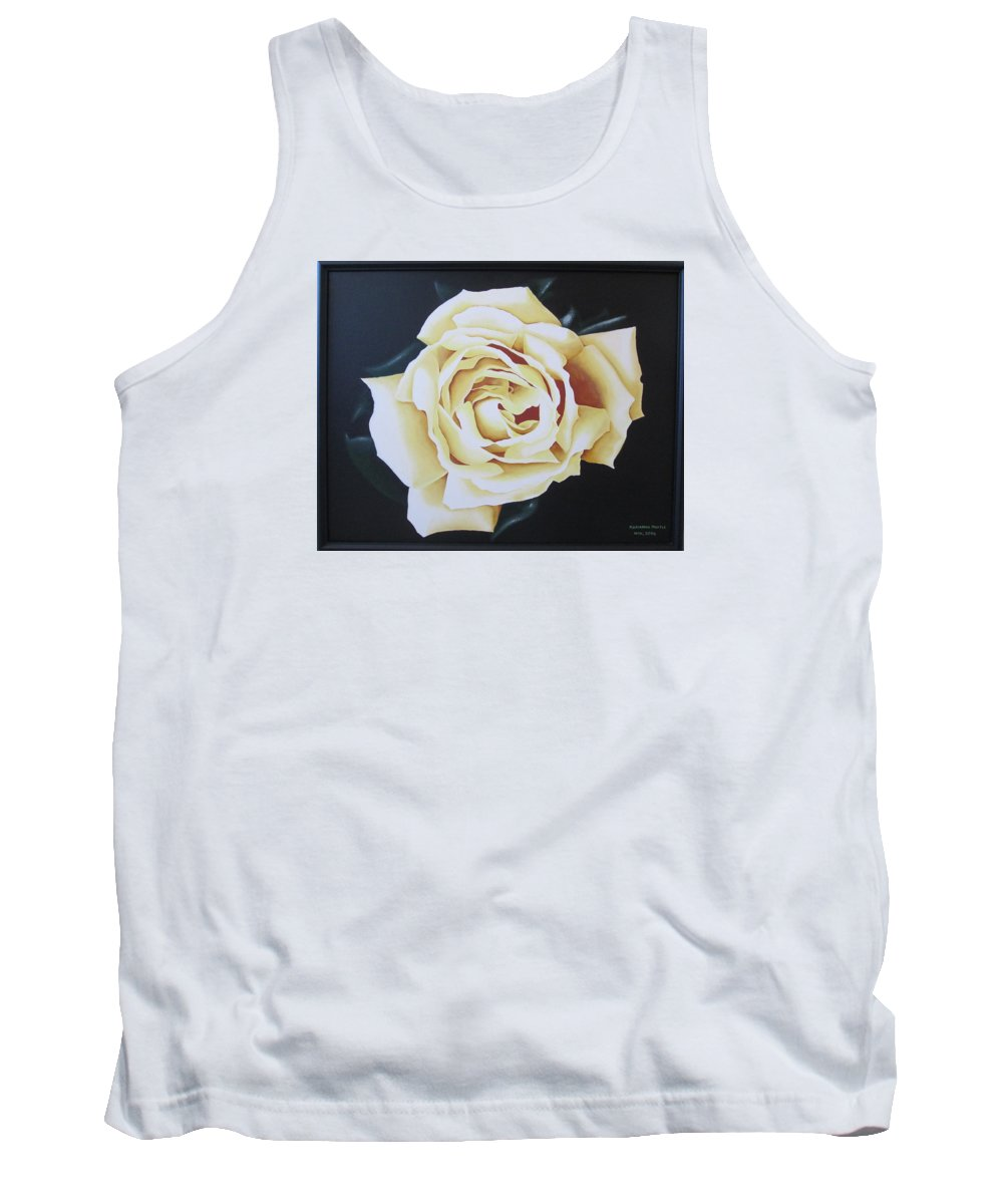 Rose Tank Top featuring the painting Tea Rozsa by Marianna Hoefle