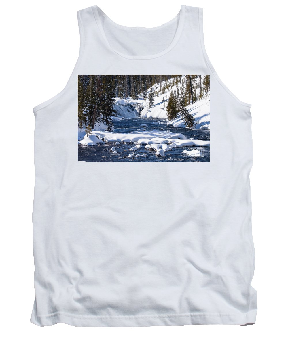 Yellowstone National Park Tank Top featuring the photograph Yellowstone Winter One by Bob Phillips