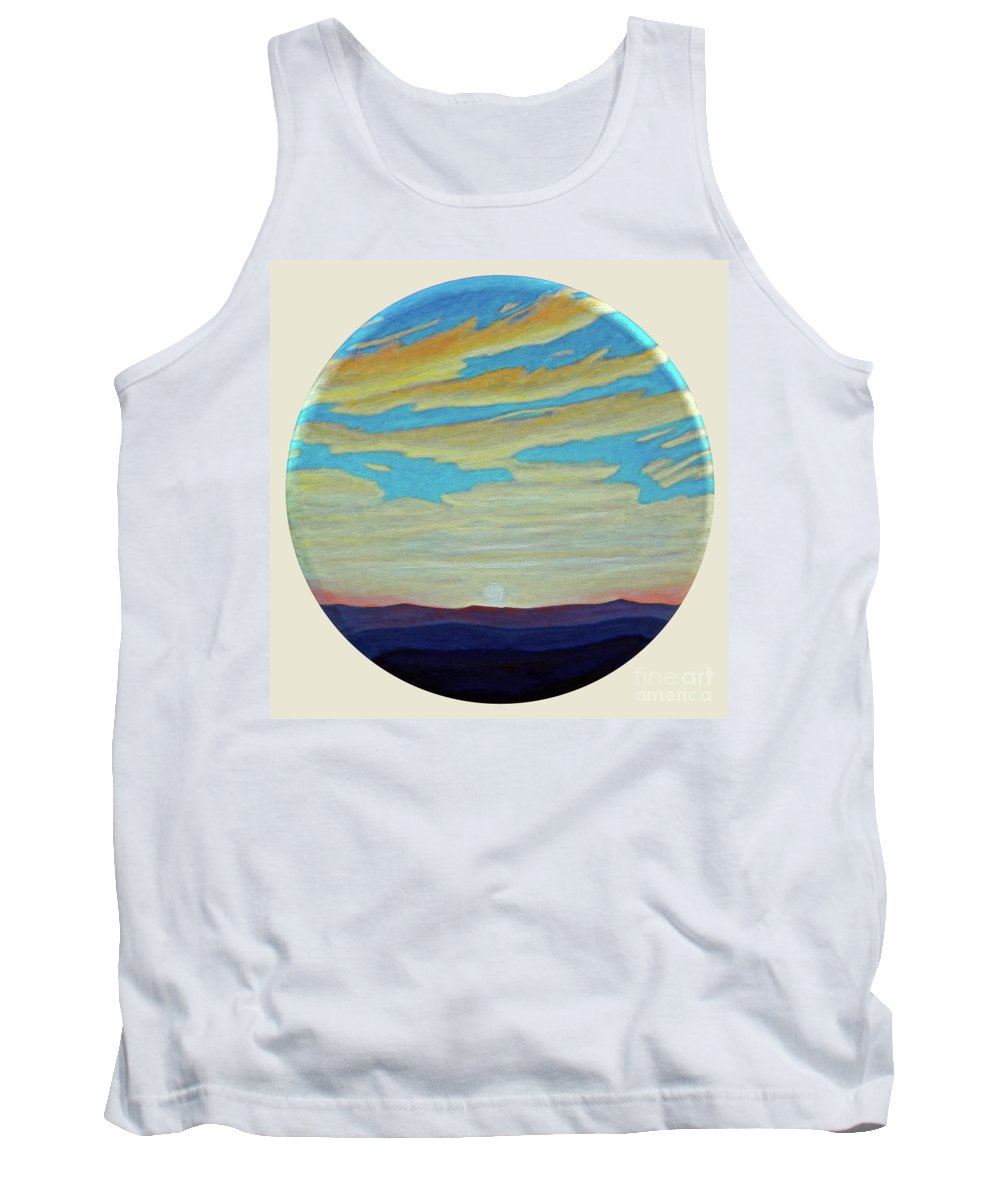 Landscape Tank Top featuring the painting Yesterday by Brian Commerford