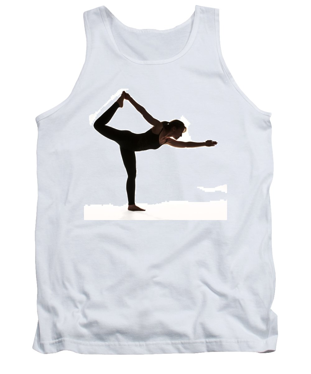 Yoga Tank Top featuring the photograph Yoga Pose King Dancer by Steve Williams