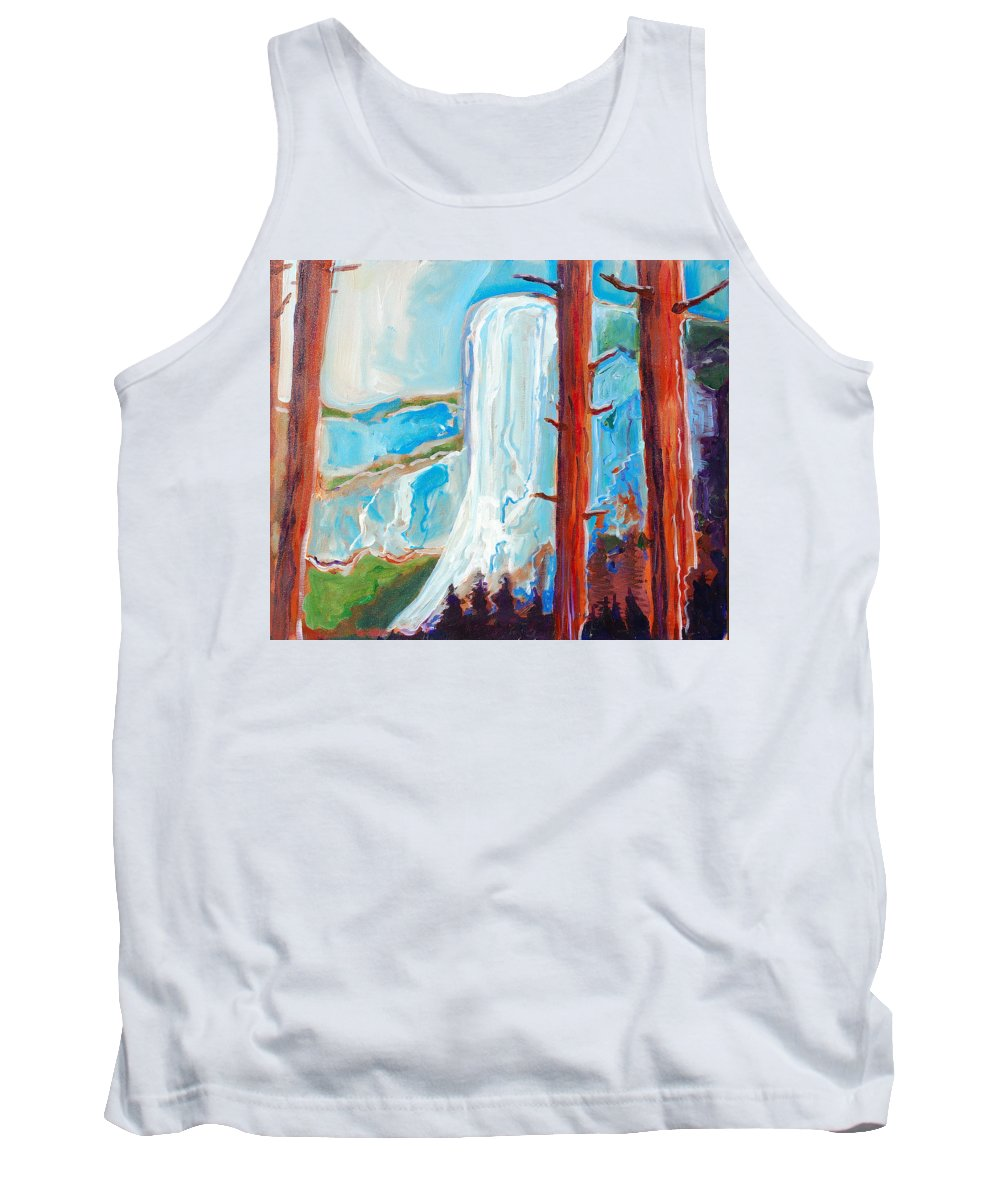 Tank Top featuring the painting Yosemite by Kurt Hausmann