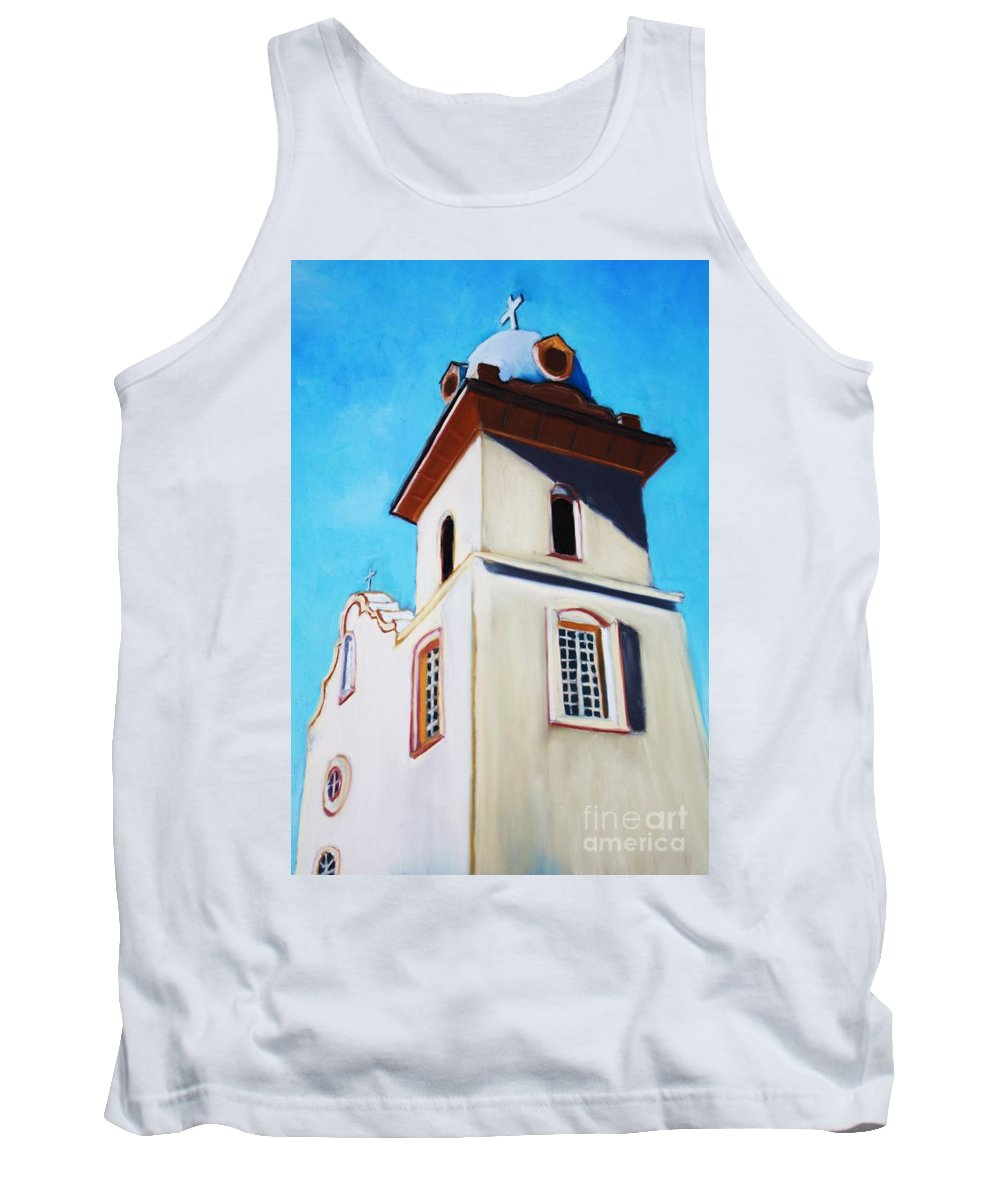 Ysleta Tank Top featuring the painting Ysleta Mission by Melinda Etzold