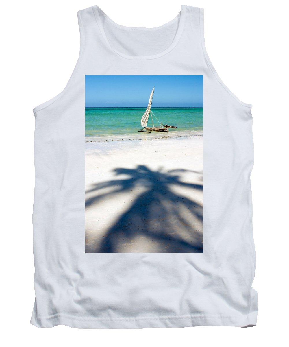 3scape Tank Top featuring the photograph Zanzibar Beach by Adam Romanowicz