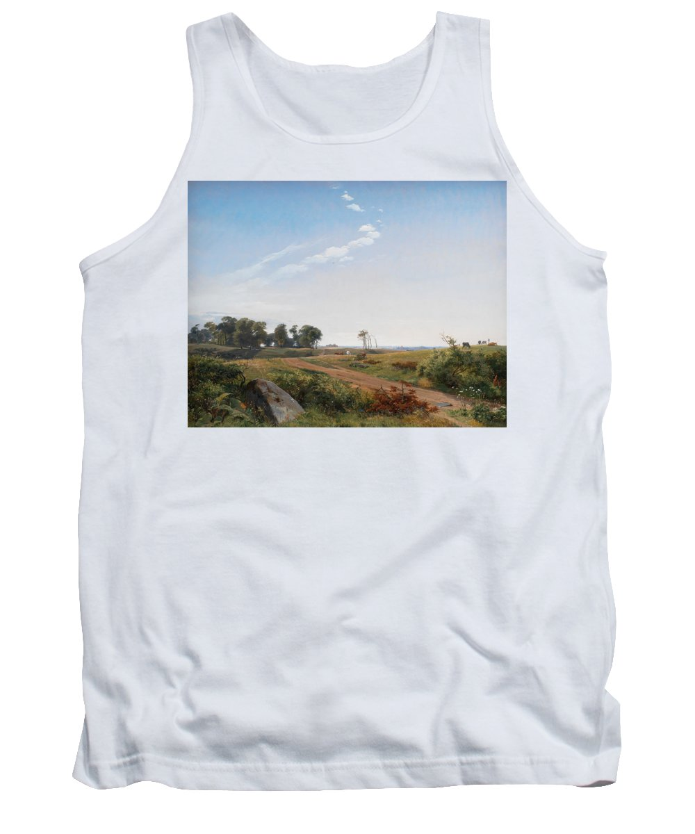 Land Tank Top featuring the painting Zealand Landscape by Johan Thomas Lundbye