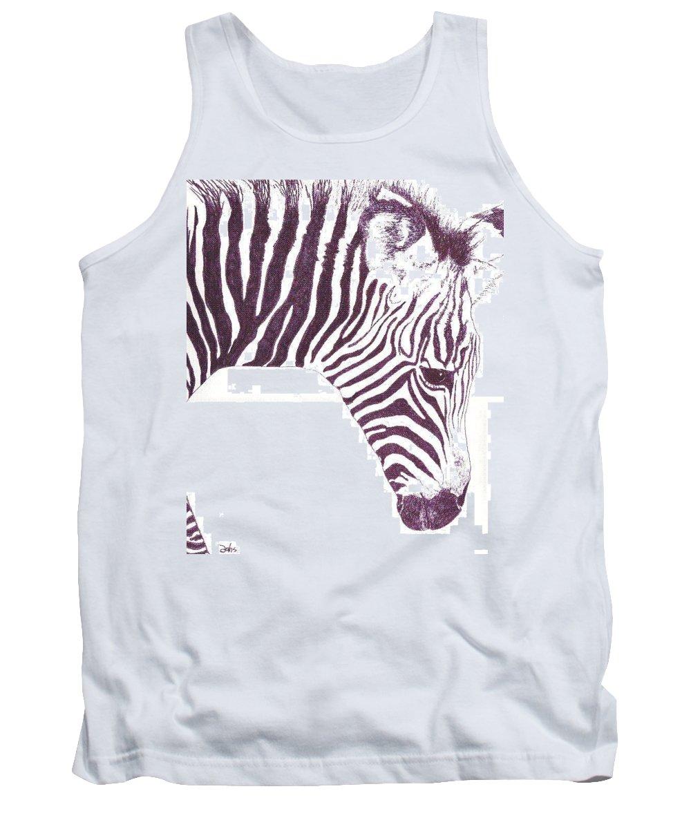 Zebra Tank Top featuring the painting Zebra Colt by Debra Sandstrom