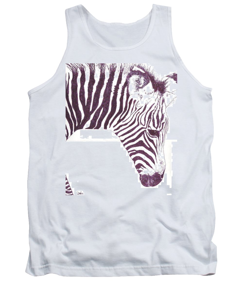 Zebra Tank Top featuring the painting Zebra Colt by Debra Sandstrom
