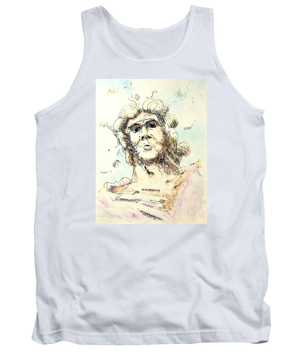 Zeus Tank Top featuring the painting Zeus by Dave Martsolf