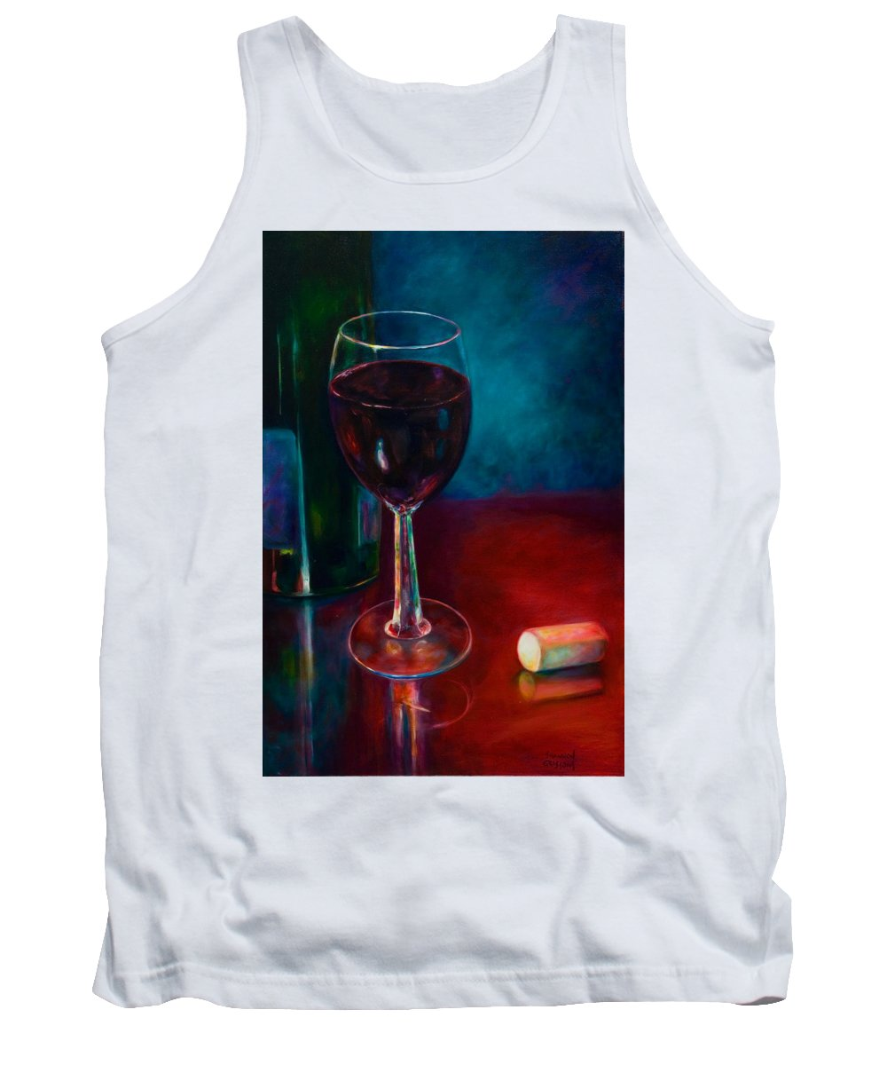Wine Bottle Tank Top featuring the painting Zinfandel by Shannon Grissom