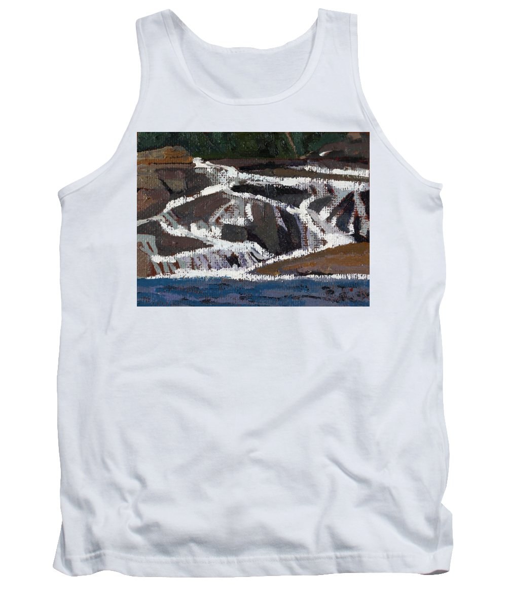 2145 Tank Top featuring the painting Grande Chute Ledge by Phil Chadwick
