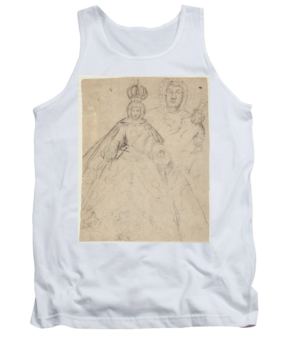 Anonimo Tank Top featuring the painting La Virgen Del Buen Suceso  by Anonimo