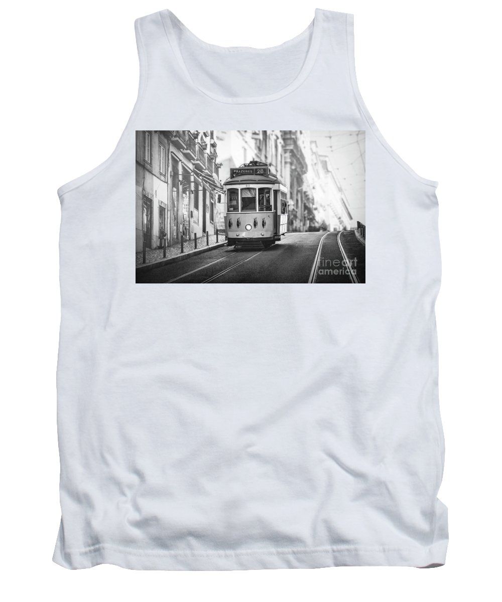Kremsdorf Tank Top featuring the photograph Ride These Streets Bw by Evelina Kremsdorf
