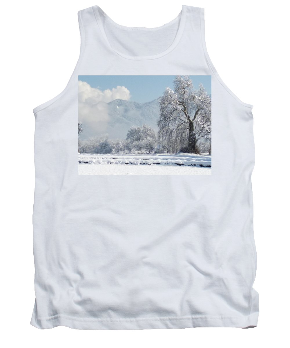 Tank Top featuring the photograph The Snow Story by Jacob