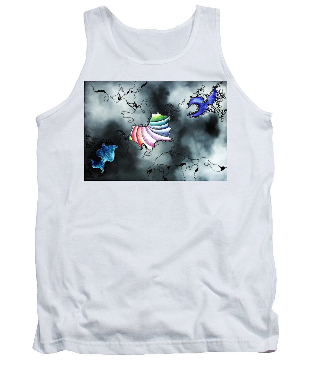 Tank Top featuring the painting Dreamcatcher by Katharina Guzdek