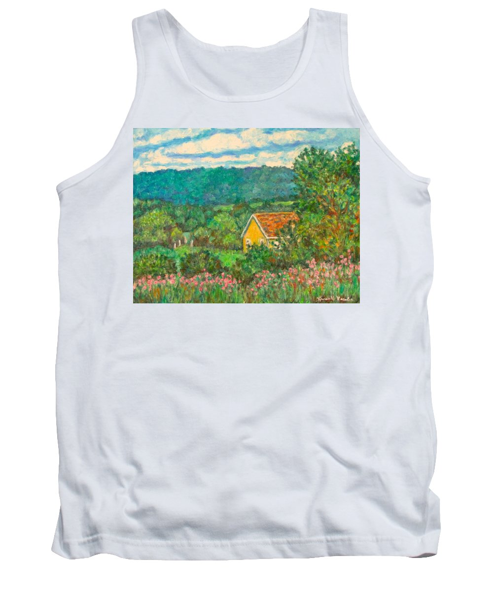 Landscape Tank Top featuring the painting 460 by Kendall Kessler
