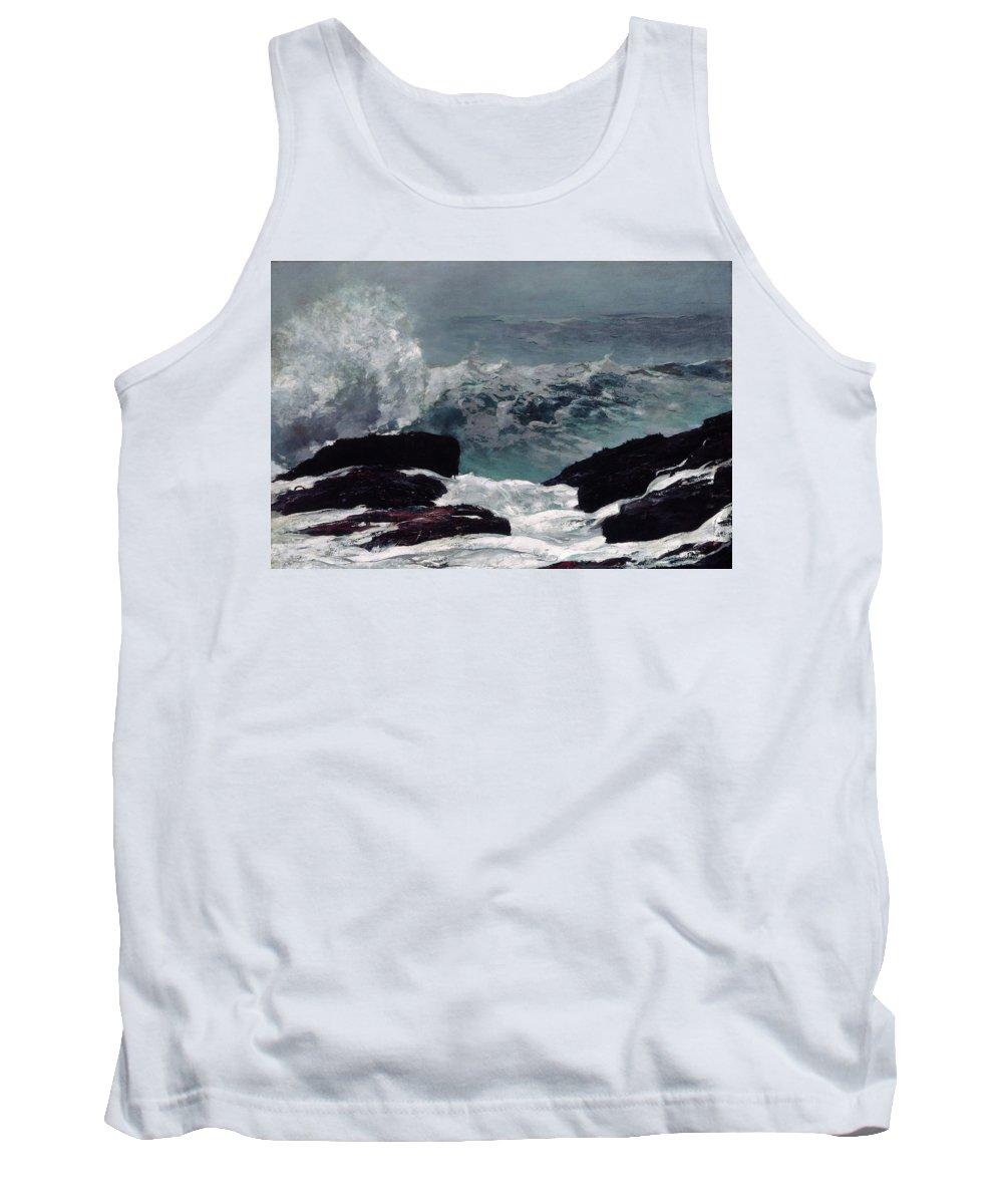 Winslow Homer Tank Top featuring the painting Maine Coast by Winslow Homer