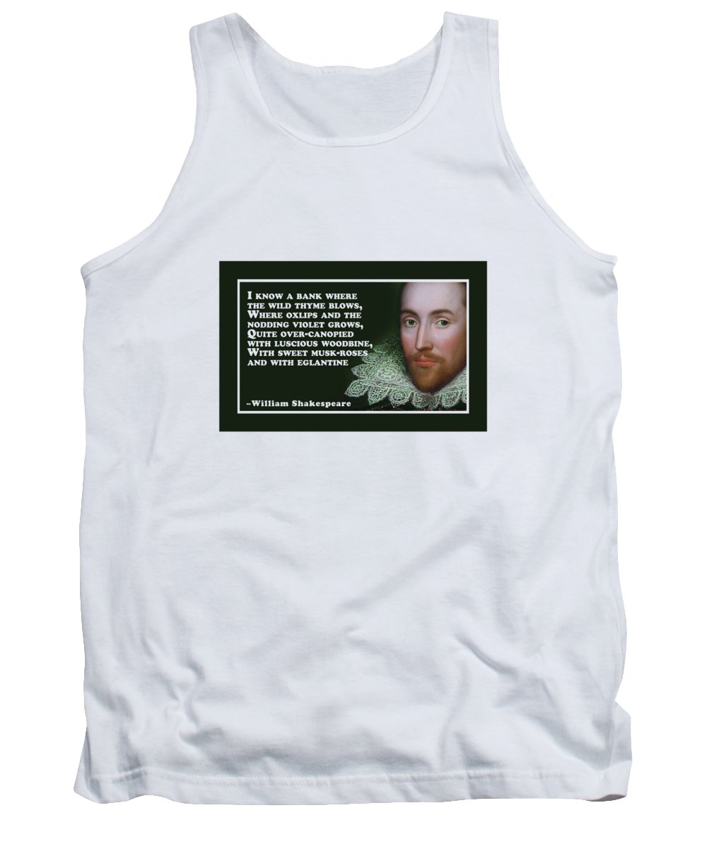 I Tank Top featuring the digital art I Know A Bank #shakespeare #shakespearequote by TintoDesigns