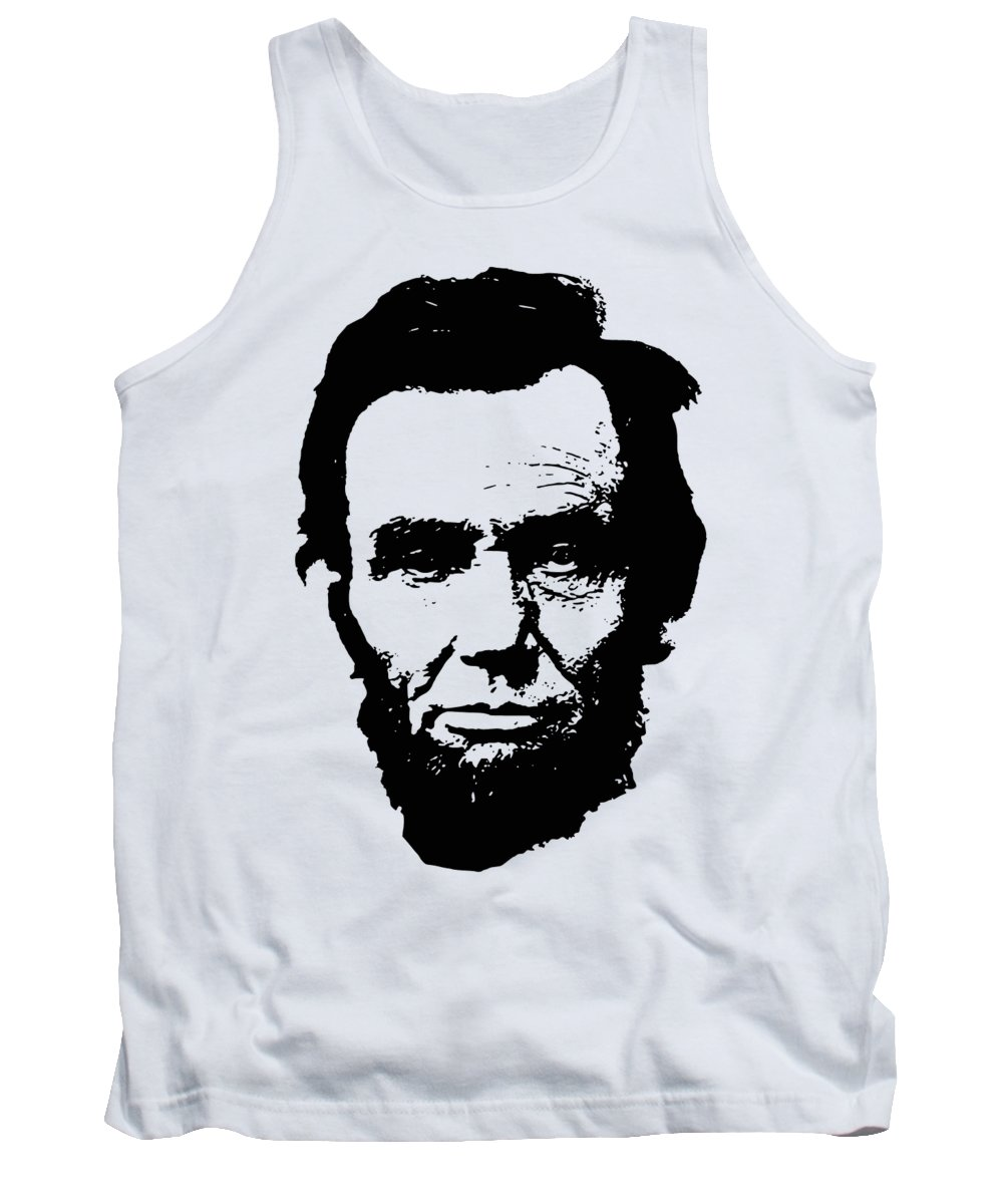 Abraham Lincoln Tank Top featuring the digital art Abraham Lincoln Minimalistic Pop Art by Filip Schpindel