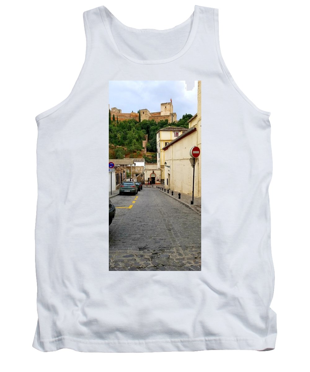Spain Landscape Building City Tank Top featuring the photograph Alhambra, Spain by Kathleen Stevens