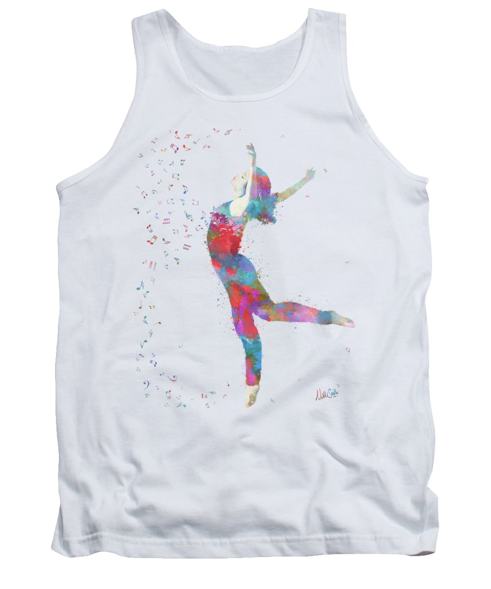 Music Tank Top featuring the digital art Beloved Deanna Radiating Love by Nikki Marie Smith