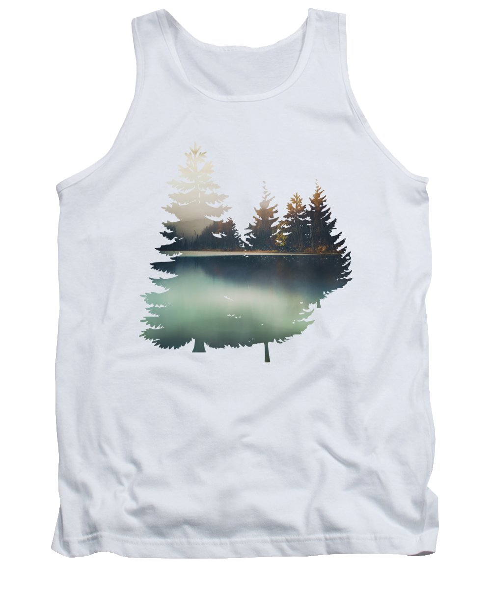 Autumn Tank Top featuring the digital art Autumn Light by Spacefrog Designs