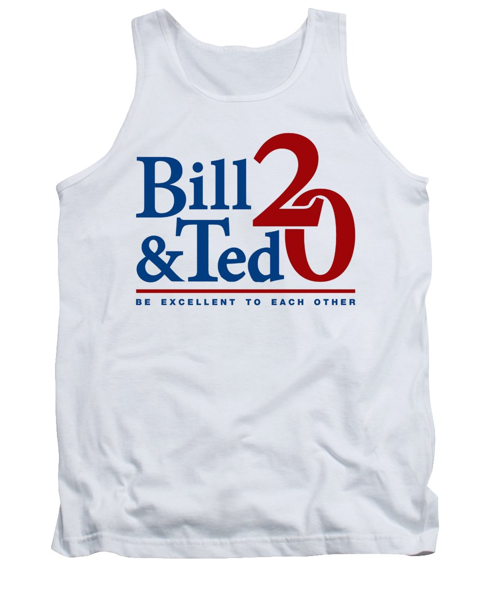 Movie Tank Top featuring the drawing Bill And Ted by Darven Sarpeye